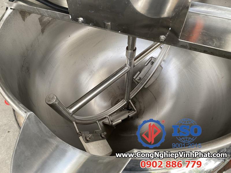 Cánh khuấy vét bên trong chảo xào công nghiệp, máy sên nhân bánh, máy sên mứt dừa Vĩnh Phát