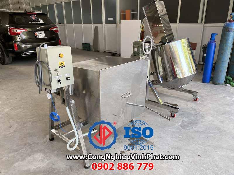 Hai loại máy trộn gia vị công nghiệp, máy trộn thực phẩm Vĩnh Phát inox 304 chất lượng cao