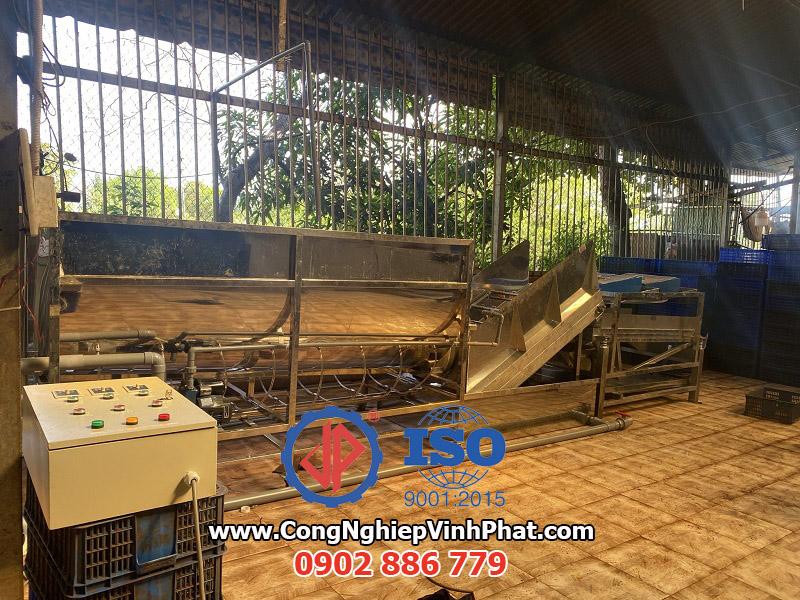 Máy rửa hạt điều lắp đặt tại Bình Phước