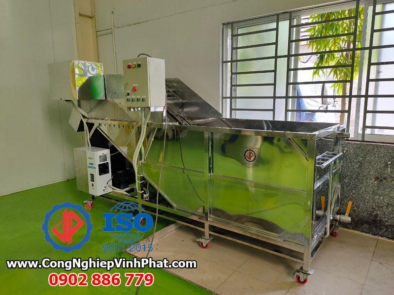 Cung cấp và lắp đặt máy rửa rau công nghiệp cho nhà máy tại KCN Tân Kim Long An
