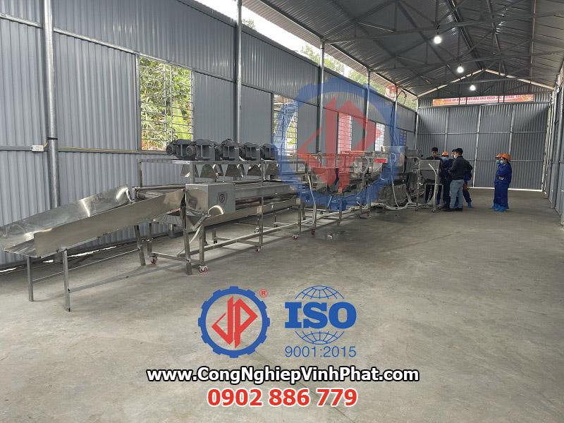 Sản xuất và cung cấp dây chuyền máy rửa trái cây, máy rửa cam sành Vĩnh Phát giá rẻ
