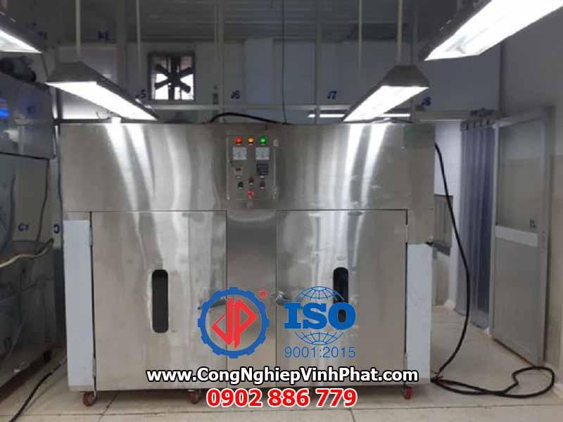 Máy sấy cơm cháy 2 cửa 20 khay sấy 800x800mm Vĩnh Phát cung cấp