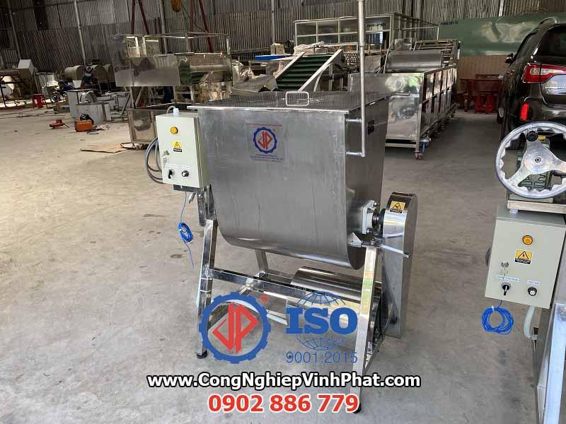 Máy trộn nằm ngang Vĩnh Phát cho ứng dụng máy trộn bột, thịt, tẩm gia vị thực phẩm