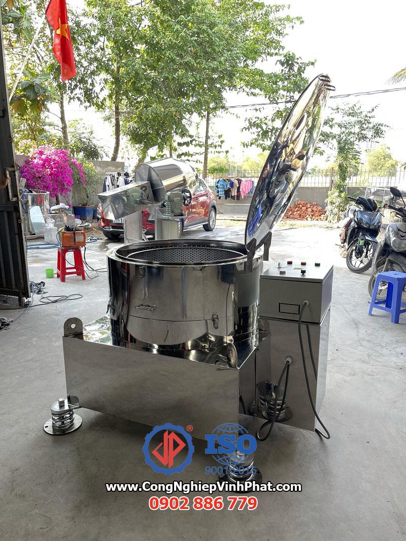Model máy vắt ly tâm 800mm của Công ty Vĩnh Phát, thể tích 150 lít năng suất cao