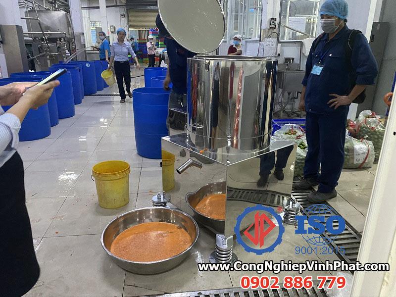 Máy vắt ly tâm inox 304 không gỉ cho ứng dụng vắt nước trái cây, củ quả