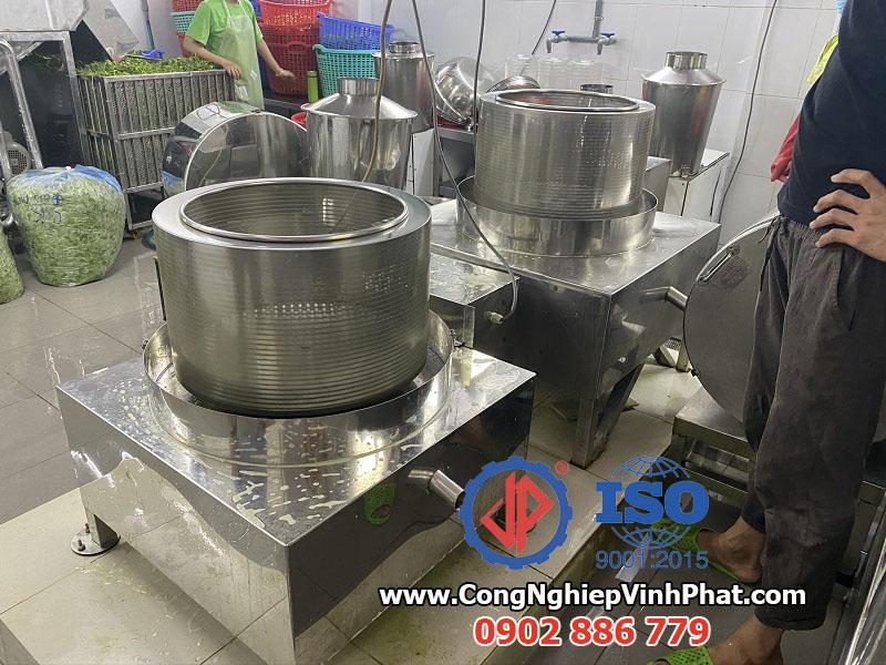 Máy vắt ly tâm 500mm full inox 304 cho ứng dụng vắt nước rau má