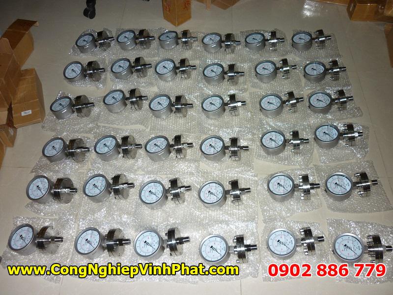Đồng hồ đo áp suất dạng màng vật liệu inox 316