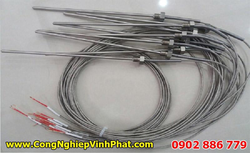 Đầu dò nhiệt độ PT100 3 dây, cảm biến nhiệt độ ty dài tùy chọn