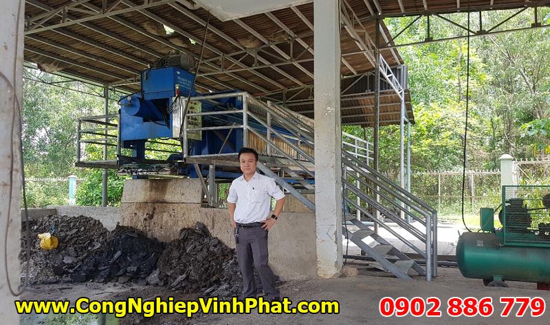 Máy ép bùn khung bản Vĩnh Phát lắp cho thực phẩm vẫn bền bỉ, tuổi thọ cao