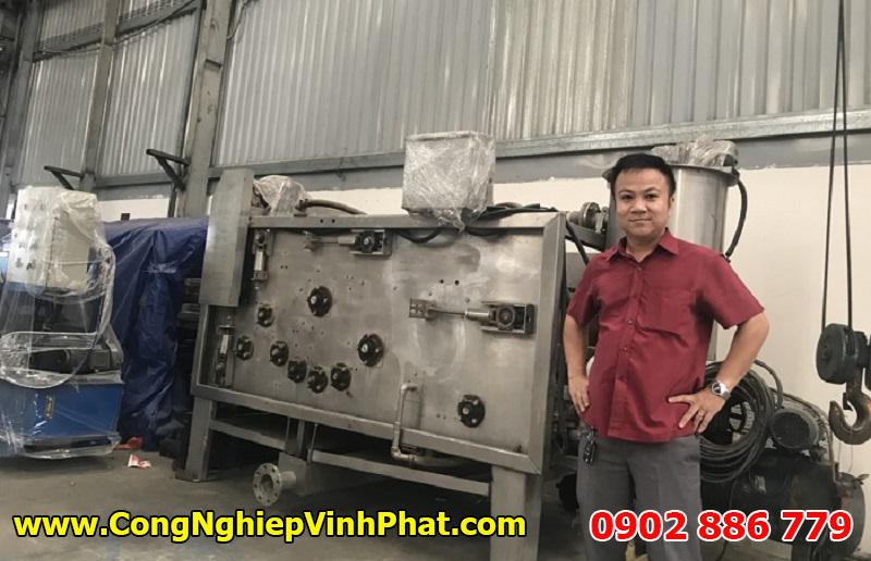 Máy ép bùn băng tải Việt Nam Vĩnh Phát chế tạo 100% trong nước